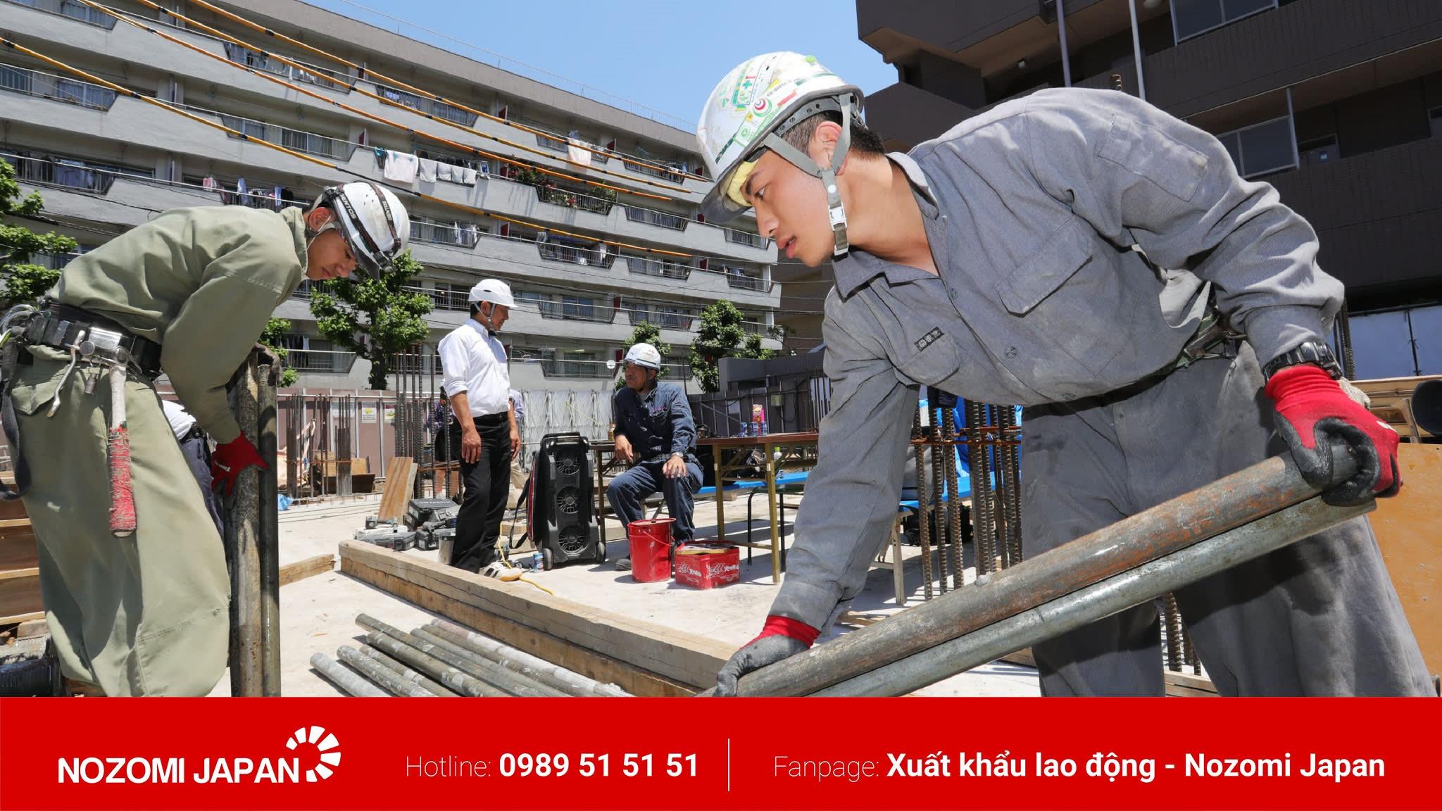 xuất khẩu lao động ngành xây dựng